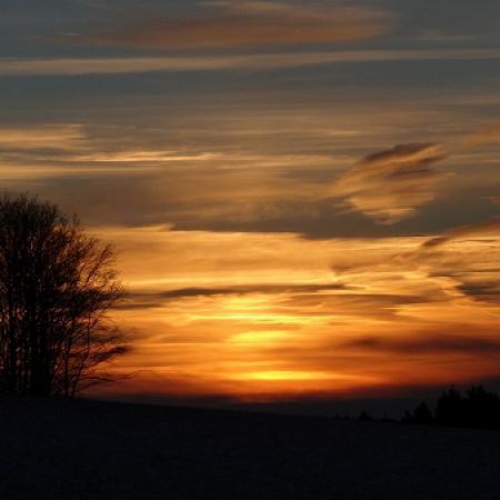 Sonnenuntergang im Ebbe